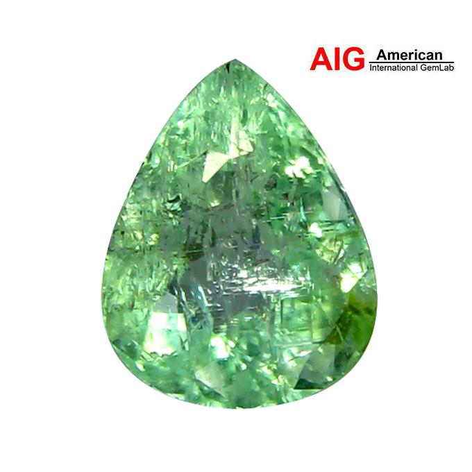 CT 2.17 AIG certificado 100% Natural Verde Color Paraiba