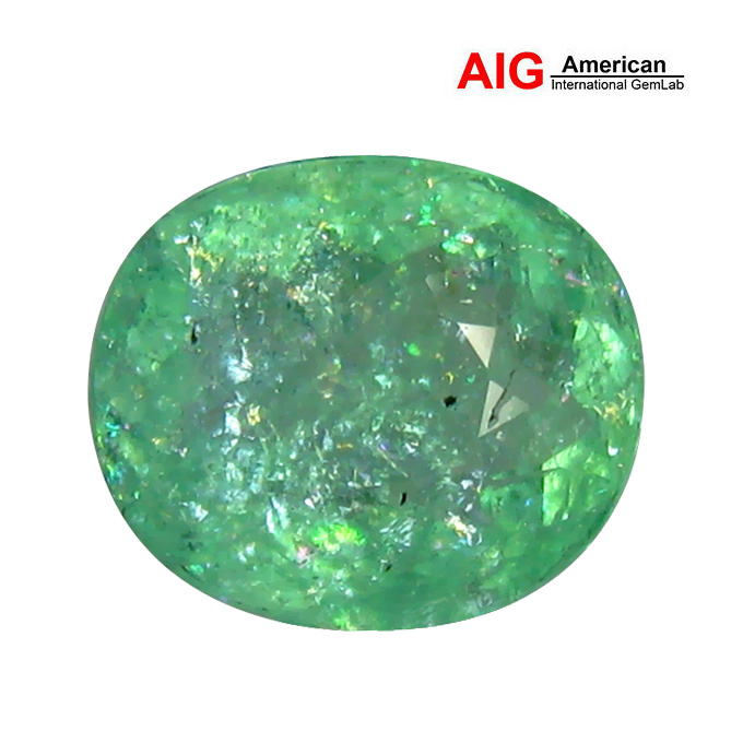 5.50CT AIG_CERTIFIED NEON GREEN COLOR UNHEATED COPPER