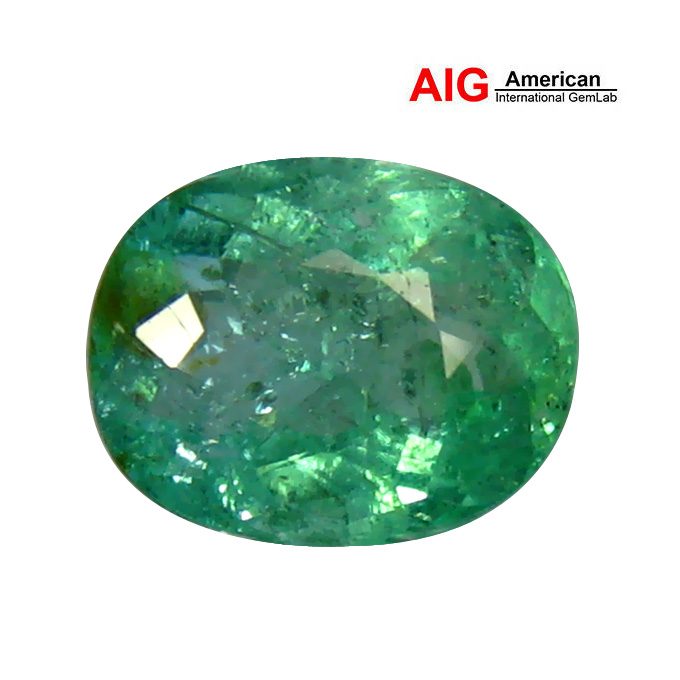 1.40 ct AIG CERTIFIED 100% NATURAL BLUISH GREEN COLOR