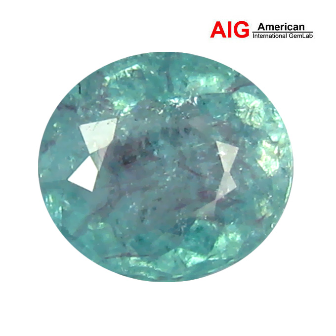 1.45 ct AIG CERTIFIED 100% NATURAL GREENISH BLUE COLOR